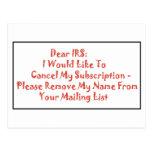 Estimado IRS - Postal