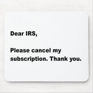 Estimado IRS… Ratón Mouse Pad