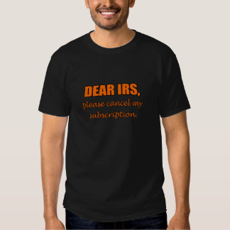 Estimado IRS Remera