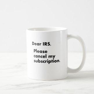 Estimado IRS Taza Clásica