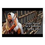Estimado Jesús sea un hermano a mi hijo… Tarjetas