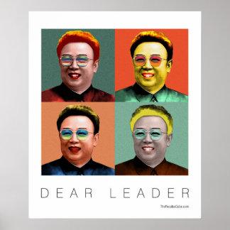 Estimado líder Kim Jong Il Poster