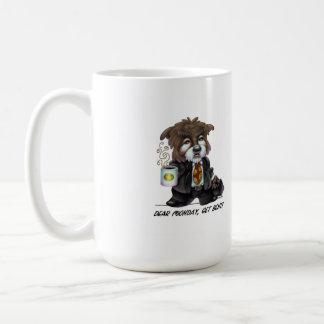 Estimado lunes consigue la taza de café doblada