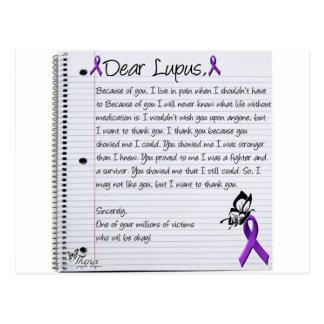 Estimado Lupus. Tarjeta Postal