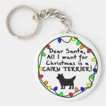 Estimado mojón Terrier de Santa Llavero Personalizado