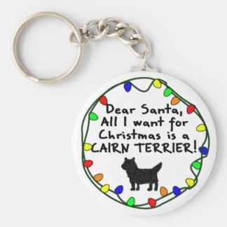 Estimado mojón Terrier de Santa Llavero Redondo Tipo Pin