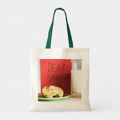 Estimado navidad de la leche y de las galletas de  bolsa