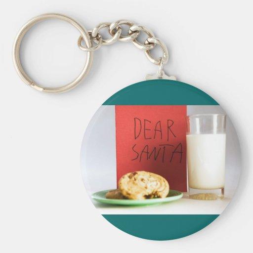 Estimado navidad de la leche y de las galletas de  llaveros
