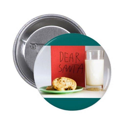 Estimado navidad de la leche y de las galletas de  pin redondo 5 cm