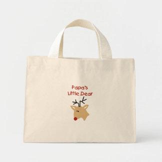 Estimado navidad de los ciervos de la papá de la bolsa tela pequeña