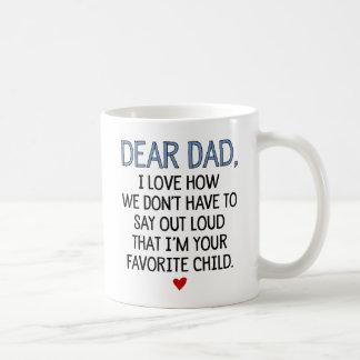 Estimado niño del favorito del papá taza