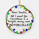 Estimado ornamento del navidad de la motocicleta d ornamento para reyes magos