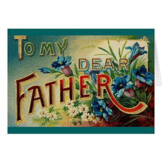 Estimado padre del vintage tarjeta de felicitación