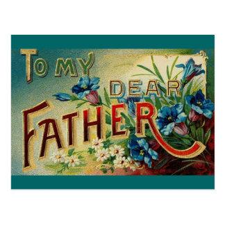 Estimado padre del vintage tarjeta postal
