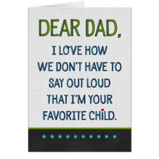 Estimado papá de encargo tarjeta de felicitación