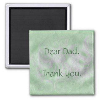 Estimado papá - imán del día de padre