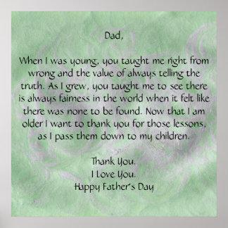 Estimado papá - poster del día de padre