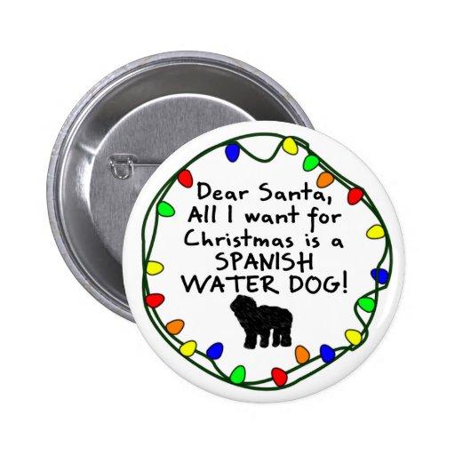 Estimado perro de agua español de Santa Pins