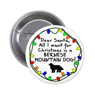 Estimado perro de montaña de Santa Bernese Pin Redondo 5 Cm