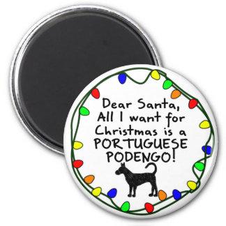 Estimado portugués Podengo de Santa Imán Redondo 5 Cm