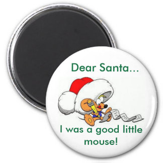 Estimado ratón de Santa Imán Redondo 5 Cm