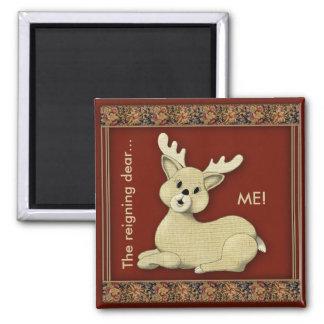 Estimado Reindeer reinante Imán Cuadrado