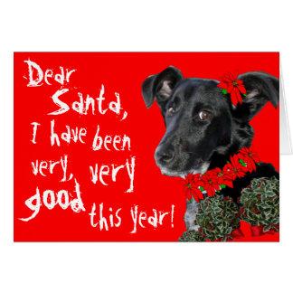 ¡Estimado Santa, buen perro ~Customizable! Tarjeta De Felicitación