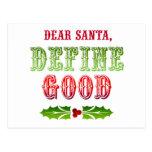 Estimado Santa define bueno Postal