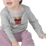 Estimado Santa define el bebé travieso de largo o  Camisetas