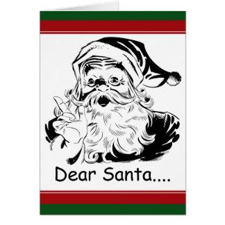 Estimado Santa divertido….letra de la mujer adulta Tarjeta De Felicitación