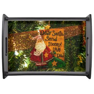 Estimado Santa envía el dinero Bandejas