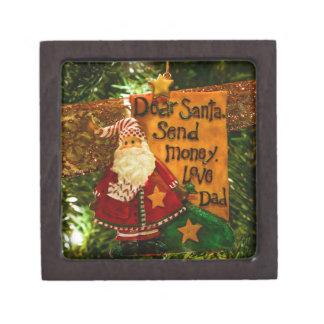 Estimado Santa envía el dinero Caja De Joyas De Calidad