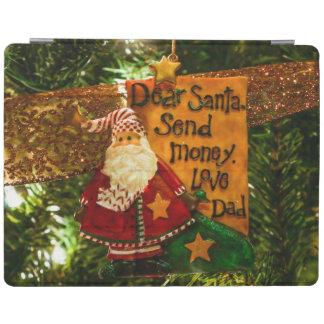 Estimado Santa envía el dinero Cubierta De iPad