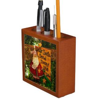 Estimado Santa envía el dinero Portalápices
