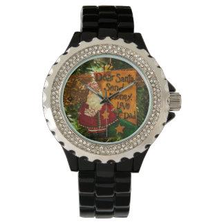Estimado Santa envía el dinero Relojes De Mano