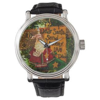 Estimado Santa envía el dinero Relojes De Pulsera