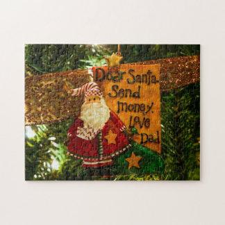 Estimado Santa envía el dinero Rompecabezas Con Fotos