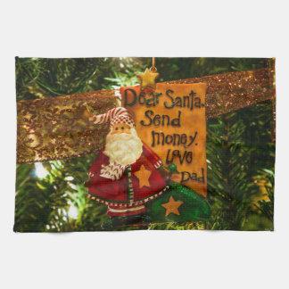 Estimado Santa envía el dinero Toallas De Cocina