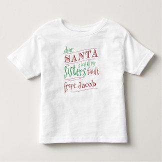 Estimado Santa era mi camisa de chico de la falta