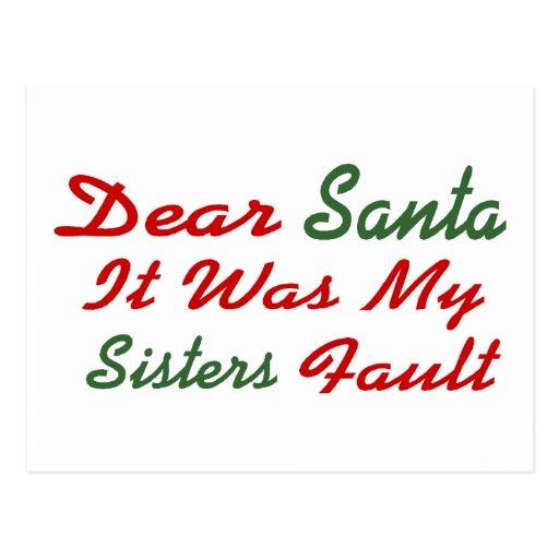 Estimado Santa era mi falta de las hermanas Postales