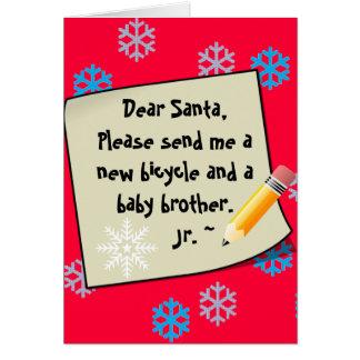 Estimado Santa: ¡Escriba a Santa! ¡El nombre de su Tarjetas