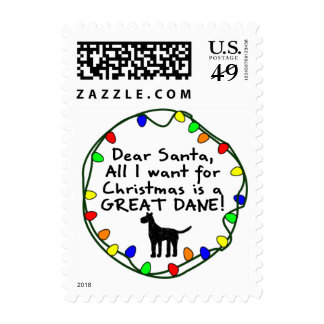 Estimado Santa great dane Timbres Postales