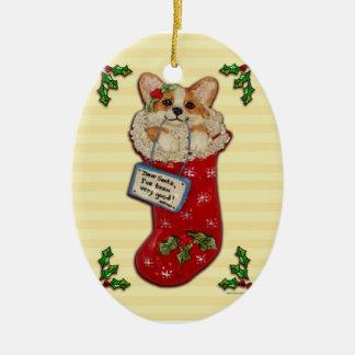 """""""Estimado Santa, he sido muy bueno!"""" Ornamento del Adorno Navideño Ovalado De Cerámica"""