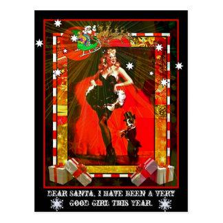 Estimado Santa, he sido un chica muy bueno este añ Postal