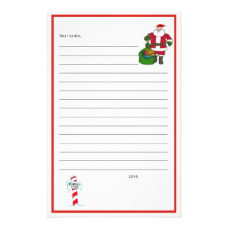 ¡Estimado Santa inmóvil! Plantilla Personalized Stationery