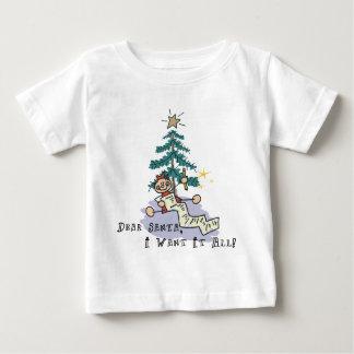 Estimado Santa lo quiero toda la camiseta Playera