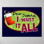 Estimado Santa lo quiero todo el poster