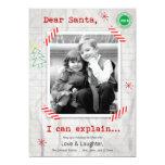 Estimado Santa… podemos explicar la tarjeta de la Invitación 12,7 X 17,8 Cm
