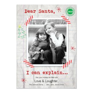 """Estimado Santa… podemos explicar la tarjeta de la Invitación 5"""" X 7"""""""