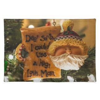 Estimado Santa podría utilizar un abrazo Mantel
